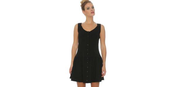 Dámské černé šaty s knoflíčky Pepa Loves