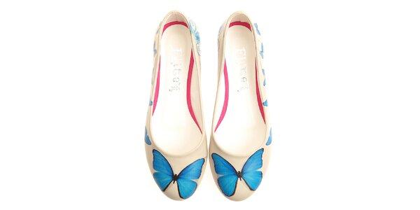 Dámské balerínky s modrým motýlkem Elite Goby