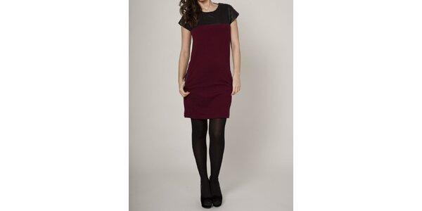 Dámské vínovo-černé šaty Mell