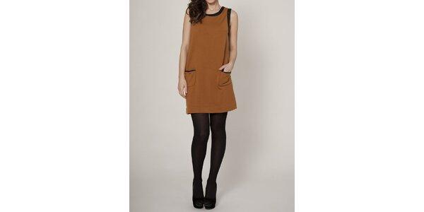 Dámské karamelově hnědé šaty Mell
