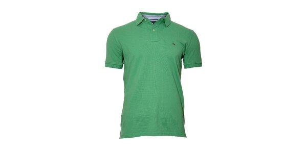 Klasické zelené polo tričko Tommy Hilfiger