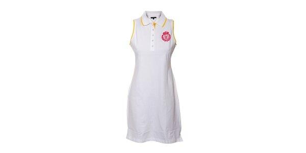 Bílé polo šaty bez rukávů Tommy Hilfiger Stephanie