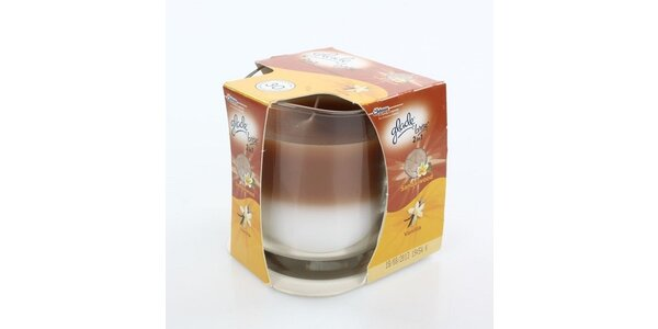 """Glade """"by Brise"""" 2v1 svíčka Santalové dřevo a vanilka 135g"""