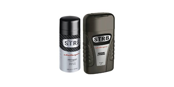 STR8 Deodorant spray Challenger 150 ml+STR8 Challenger sprchový gel 250 ml