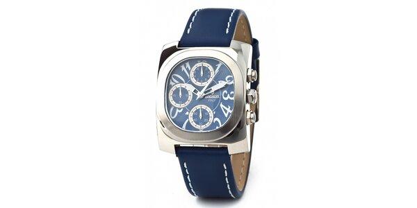 Ocelové hodinky Lancaster s modrým řemínkem