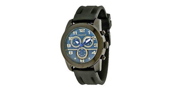 Pánské černé náramkové hodinky Lancaster se silikonovým řemínkem