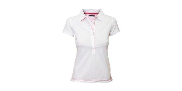Bílé polo tričko Tommy Hilfiger Katy
