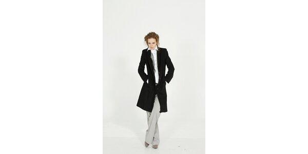 Dámský černý zimní vlněný kabát Gene