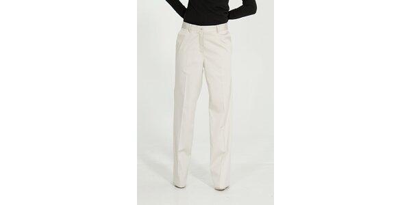 Dámské krémové kalhoty Gene s puky