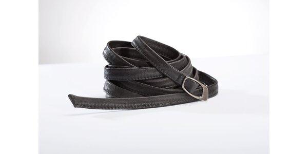 Dámský úzký černý pásek Gene