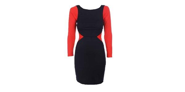 Dámské černo-červené šaty Estella