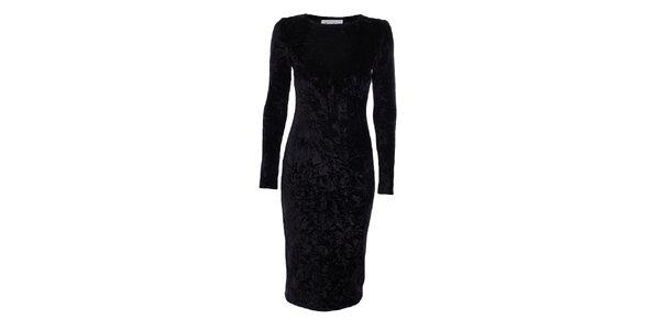 Dámské černé sametové šaty Estella