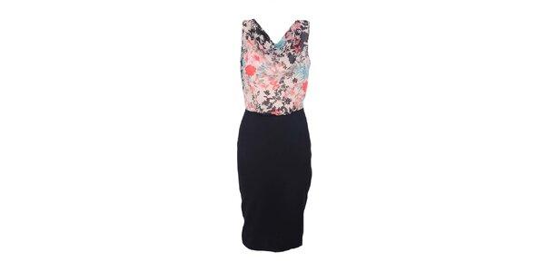 Dámské barevné šaty s černou sukní Estella