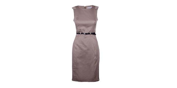 Dámské světle hnědé pouzdrové šaty Estella