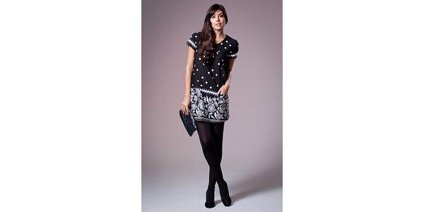 Dámské černo-šedé šaty Ada Gatti s potiskem