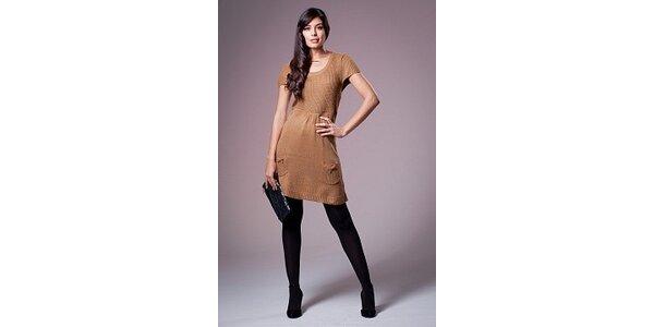 Dámské oříškově hnědé šaty Ada Gatti