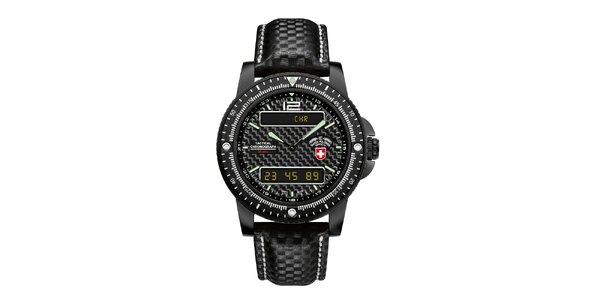 Pánské černé analogo-digitální hodinky Swiss Military