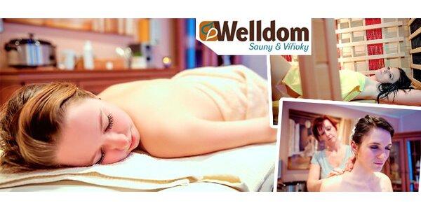 60minutová wellness procedura - infrasauna, aroma masáž a lahodný nápoj