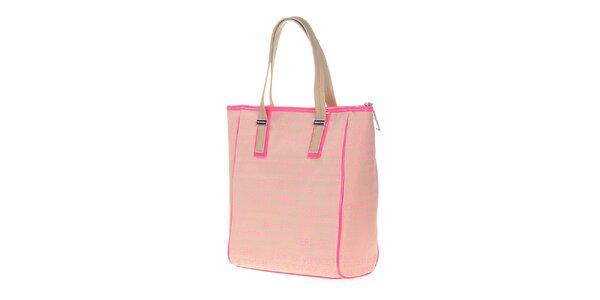 Dámská světle růžová obdélníková kabelka Versace Jeans