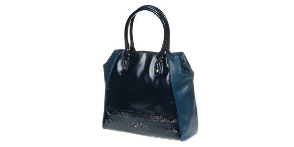 Dámská modrá kabelka se dvěma uchy Versace Jeans