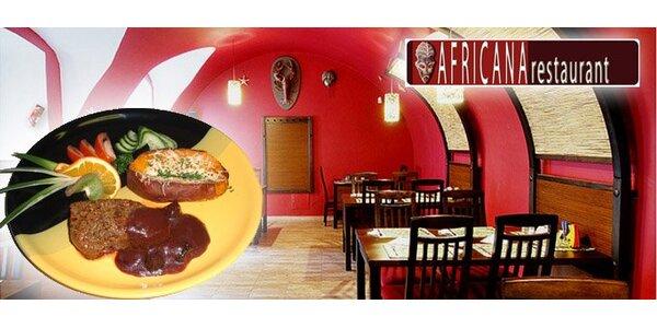 649 Kč za kompletní africké menu PRO DVA ve stylové restauraci. Sleva 53 %!