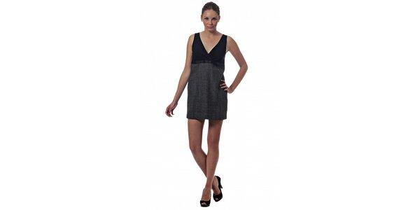 Dámské šedo-černé šaty Miss Sixty s potiskem