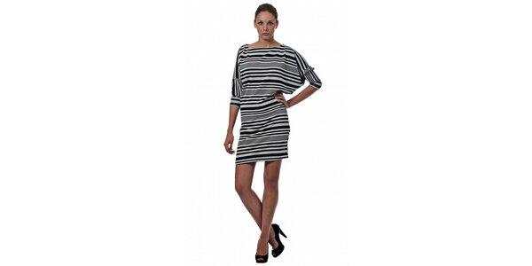 Dámské černobílé pruhované šaty Miss Sixty
