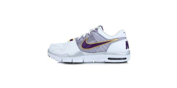 Pánské bílé tenisky s fialovými prvky Nike