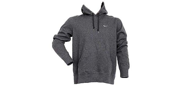 Pánská šedivá mikina s kapucou Nike