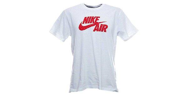 Pánské bílé tričko s červeným potiskem Nike