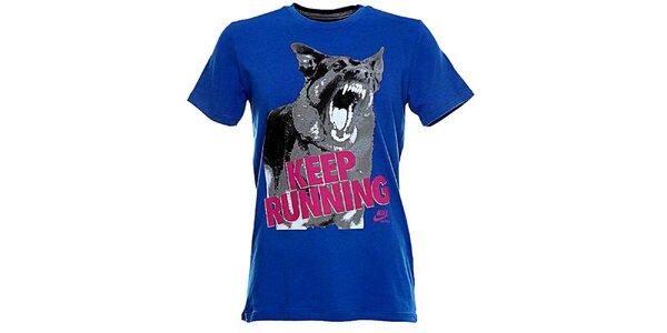 Pánské modré tričko s potiskem Nike