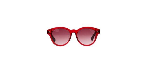 Dámské červené brýle s pruhovanými stranicemi Marc by Marc Jacobs