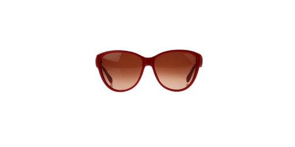Dámské červené sluneční brýle s ozdobnou stranicí Marc by Marc Jacobs