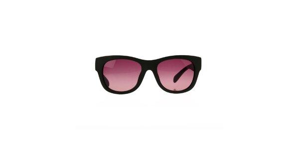 Dámské khaki sluneční brýle se vzorovanými stranicemi Marc by Marc Jacobs