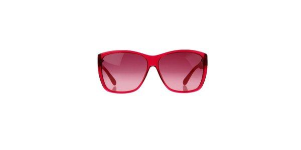 Malinové brýle s pruhovanými stranicemi Marc by Marc Jacobs