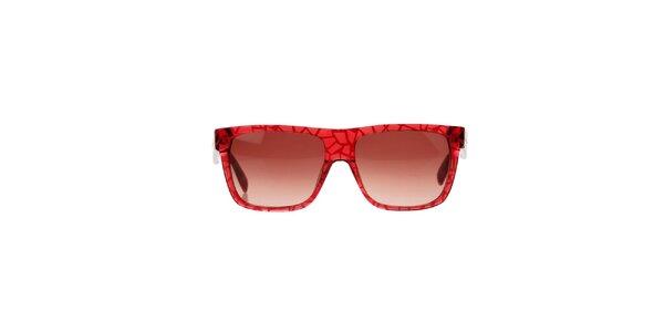 Dámské červené sluneční brýle se vzorem Marc by Marc Jacobs