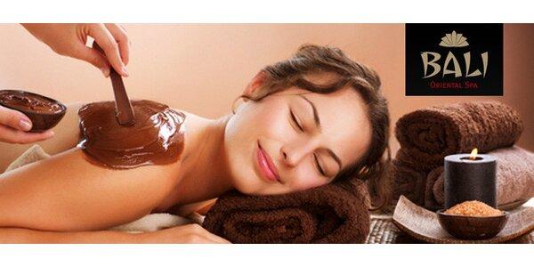 Čokoládové hýčkání – masáž a peeling nebo zábal