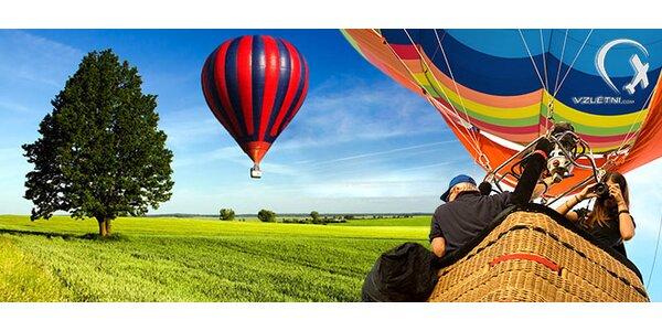 Povznášející 60minutový let v balonu