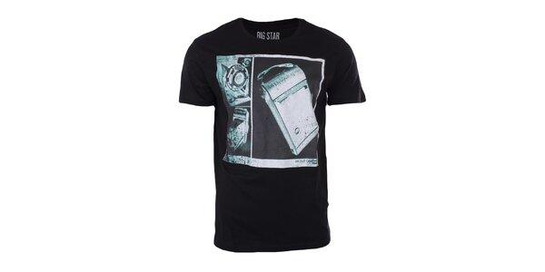 Pánské černé tričko s potiskem Big Star