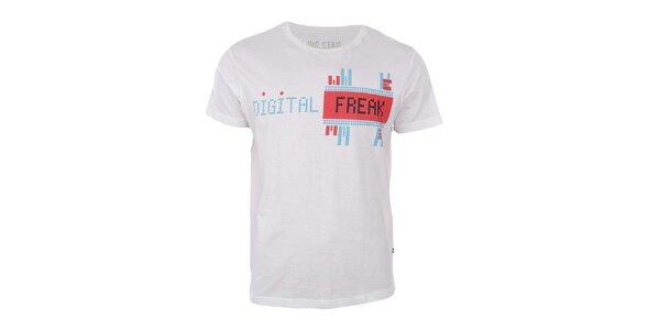 Pánské bílé tričko s potiskem Big Star
