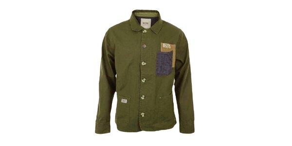 Pánský tmavý khaki kabátek Big Star