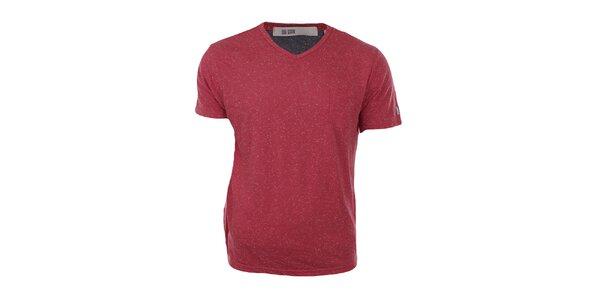 Pánské červené melírované tričko Big Star