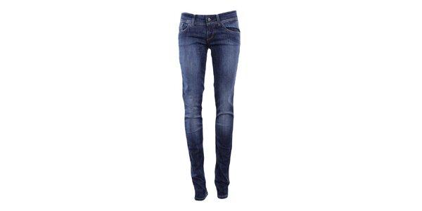 Dámské džíny s šisováním v tmavě modré barvě Big Star