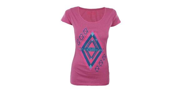 Dámské růžové tričko s potiskem Big Star
