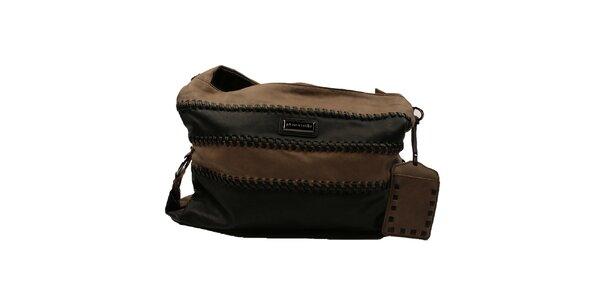Dámská pruhovaná kabelka se širokým popruhem Pierre Cardin