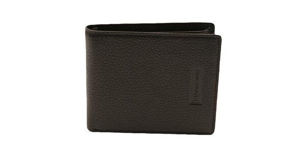 Pánská černá reliéfní kožená peněženka Pierre Cardin