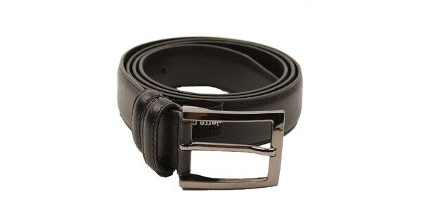 Pánský černý pásek Pierre Cardin