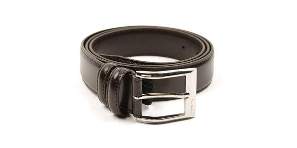 Pánský hnědý pásek se stříbrnou sponou Pierre Cardin