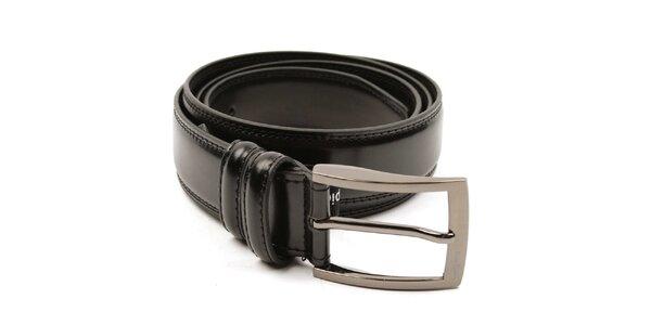 Pánský černý hladký pásek Pierre Cardin
