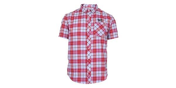 Pánská červeně kostkovaná košile Varsity Team Players